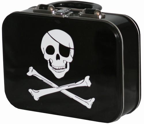 Lunch Boxes karatasi la kupamba ukuta titled Pirate Skull and Crossbones Lunch Box