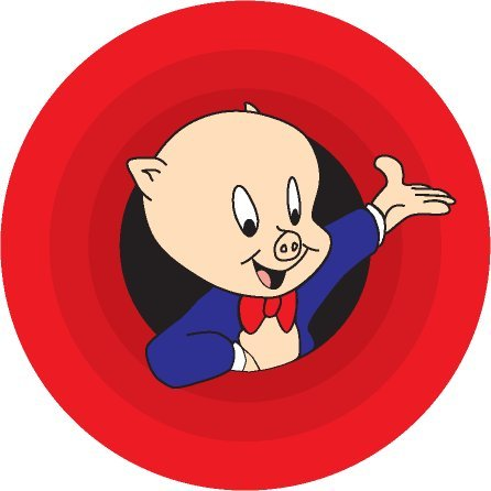 Looney Tunes Обои probably with a venn diagram called Porkey Pig