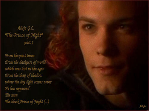 Kyle Schmid wallpaper possibly containing a sign titled Prince of Night 01