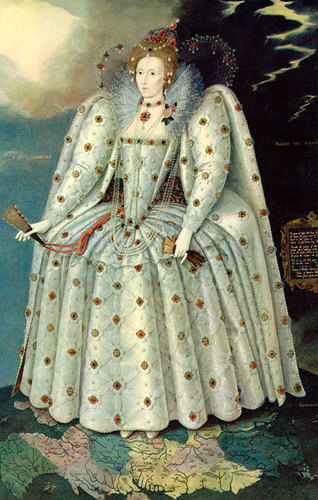 Kings and Queens wallpaper probably containing a polonaise entitled Queen Elizabeth I of England