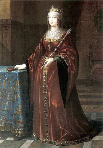 Kings and Queens wallpaper containing a cloak and a capote entitled Queen Isabella I of Castile and Leon