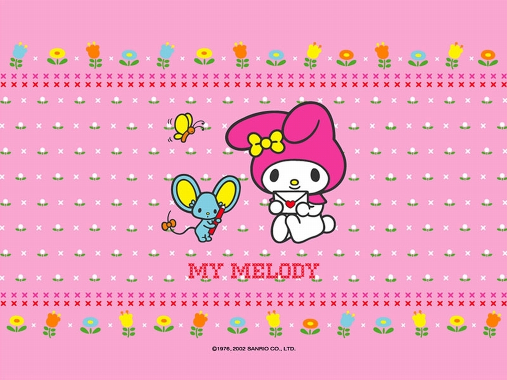 Resized Wallpaper :) - My Melody 1024x768 800x600