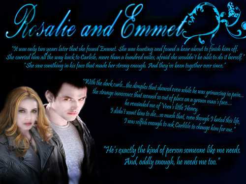 Emmett & Rosalie wallpaper probably containing a sign titled Rose/Emmett <3