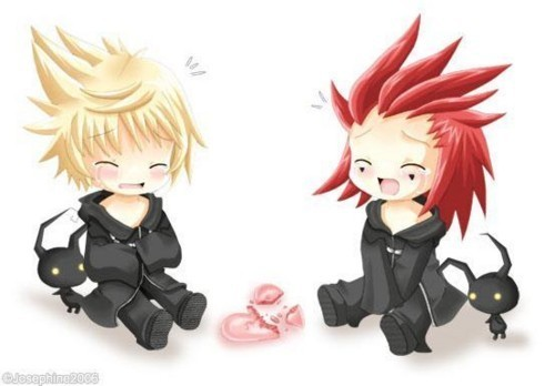 axel and roxas. Roxas and Axel share one heart