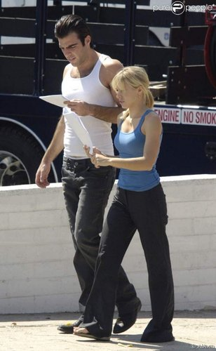 Sylar and Elle - Set Pictures