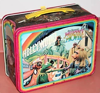 Lunch Boxes karatasi la kupamba ukuta called The Muppet Movie vintage lunch box