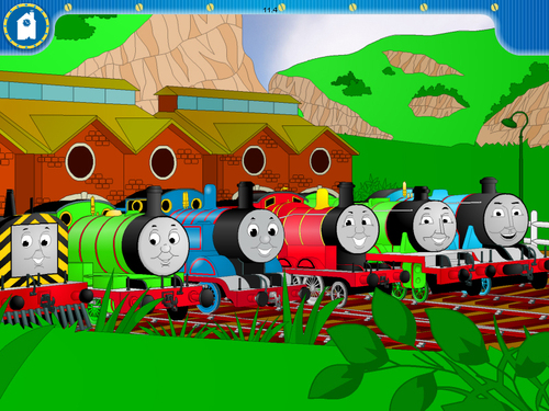 Thomas the Tank Engine Hintergrund called Trains of Sodor