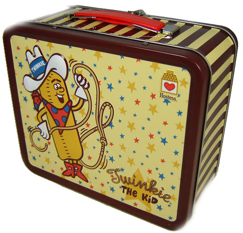 Lunch Boxes karatasi la kupamba ukuta containing a kibaniko, mashine ya kubanika mkate titled Twinkies Lunch Box