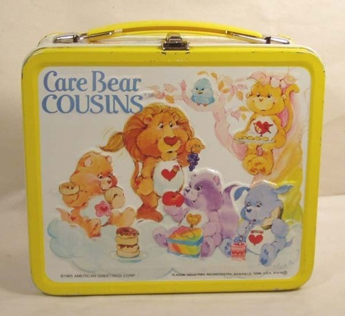 Vintage 1985 Care برداشت, ریچھ Cousins Lunch Box