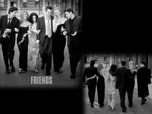 Friends wallpaper containing a business suit and a street titled after 10 years