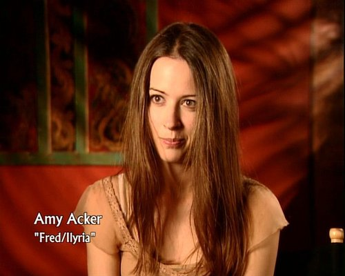 amy on behind the scenes of Angel