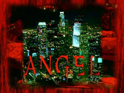 Angel wallpaper probably containing a sign and a business district called angel season 5