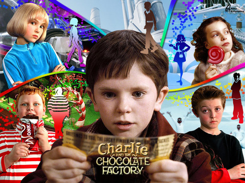 Filme Hintergrund titled charlie and the Schokolade factory
