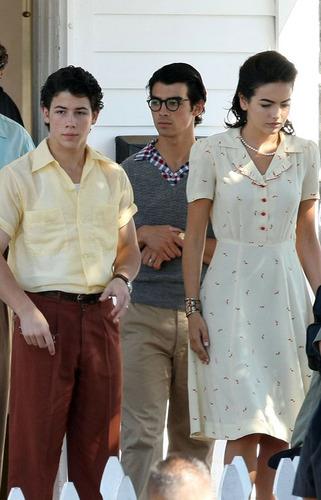 "filming ""Lovebug"" w/ Jonas Brothers"