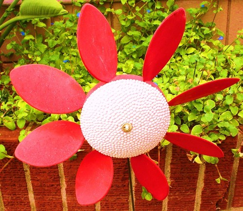 plastic spinnig 꽃