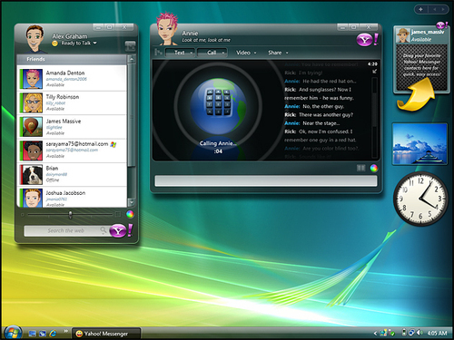 yahoo messenger(vista)