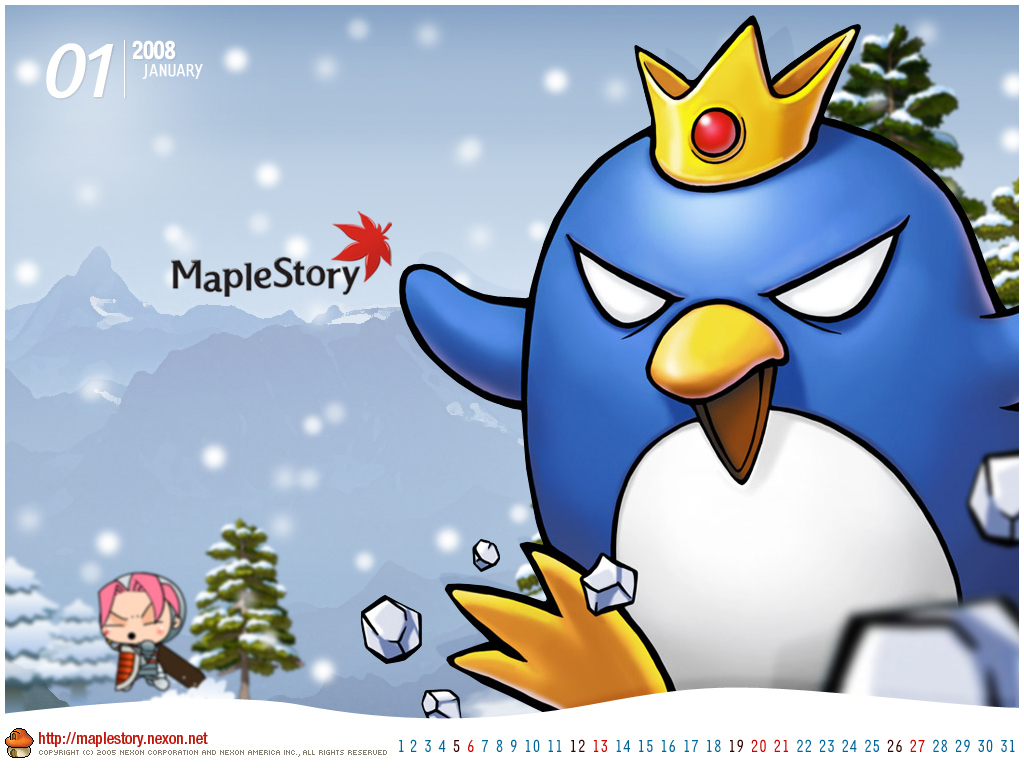 maple story images 2008 calendar hd wallpaper and
