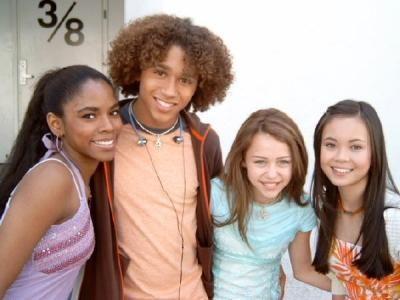 Anna Maria, Miley, Corbin, and Amber from Hannah Montana