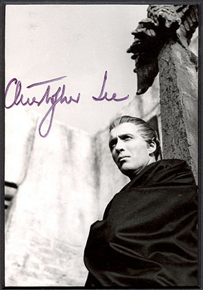 Autographed 照片 of Christopher Lee