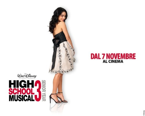 High School Musical 3 wallpaper possibly containing a cocktail dress, a dinner dress, and a frock called Baby V wallpaper