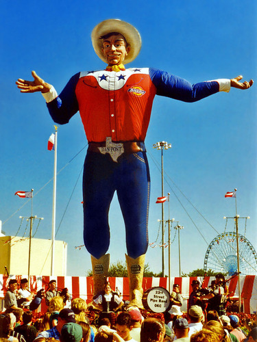 The State Fair of Texas wallpaper probably containing a boater entitled Big Tex