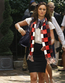 Blair wearing Chuck's scarf
