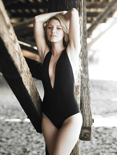 Blake Lively wallpaper probably containing a maillot and a leotard called Blake Swimsuit