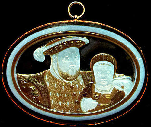 Cameo of Henry VIII and Prince Edward
