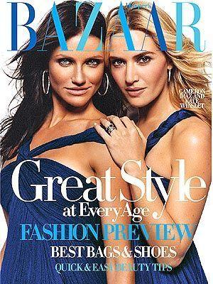 Cameron Diaz&Kate Winslet Bazaar cover
