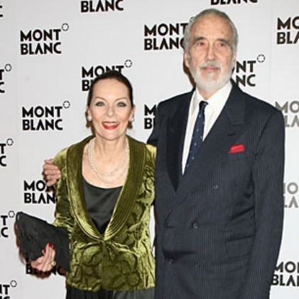 Christopher Lee and wife
