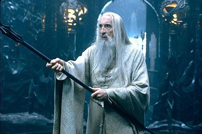 Christopher Lee as Saruman in LOTR