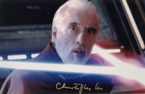 Christopher Lee in звезда Wars