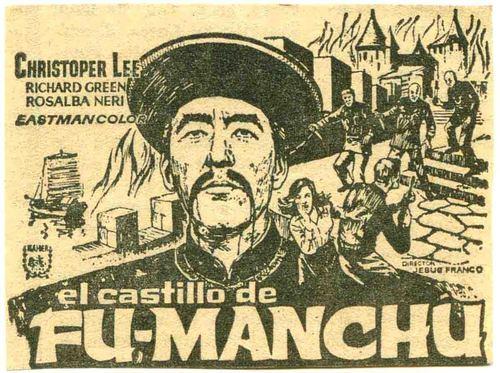 The kastil, castle Of Fu-Manchu foreign poster