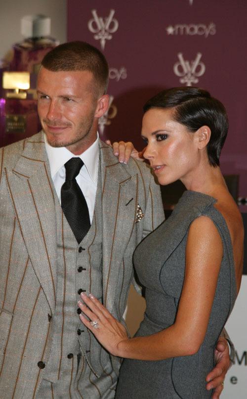 David Beckham y Victoria Beckham con su marca DVB