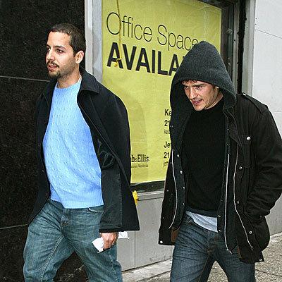 David Blaine and Orlando Bloom