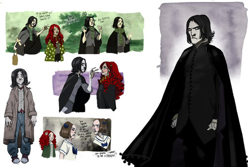 Severus Snape Hintergrund entitled Deathly Hallows