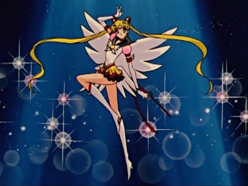 Eternal Sailor Moon after her henshi