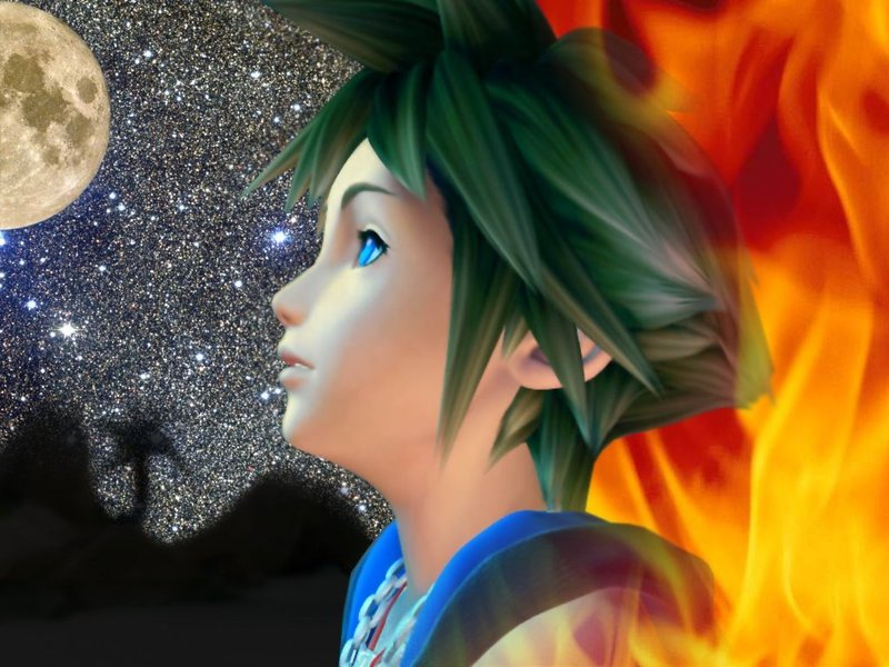 kingdom hearts sora. Fire Sora - Kingdom Hearts