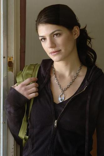Supernatural wallpaper possibly with an outerwear, an overgarment, and a blouse called Genevieve Cortese (Ruby)