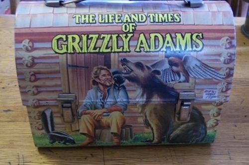 Grizzly Adams Vintage 1977 Dome Lunch Box