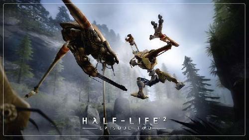 Half Life wolpeyper called Half-Life 2: Episode 2 - D0G vs. the Strider
