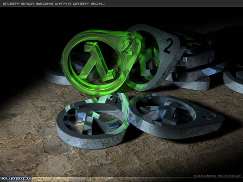 Half Life wallpaper probably with an internal combustion engine entitled Half-Life 2 Logo