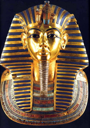 Kings and Queens achtergrond titled King Tut Golden Mask