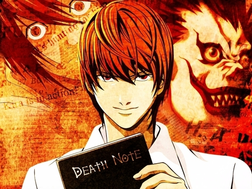 Death Note achtergrond with anime entitled Kira