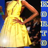 Project runway, start-und landebahn Foto probably containing a abendessen dress entitled Korto