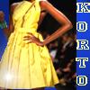 Project runway, start-und landebahn Foto possibly with a abendessen dress entitled Korto