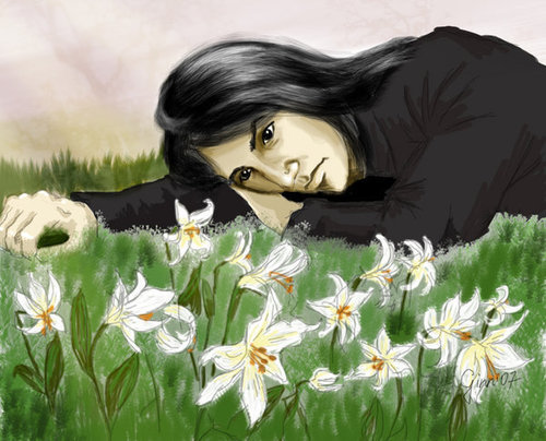 Severus Snape wallpaper with a bouquet entitled Lilies