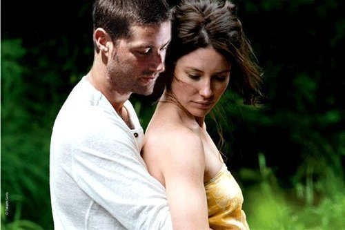 Matthew fuchs and Evangeline Lilly