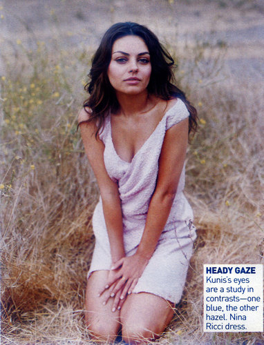 Mila Kunis Hintergrund probably with a grainfield entitled Mila Vogue