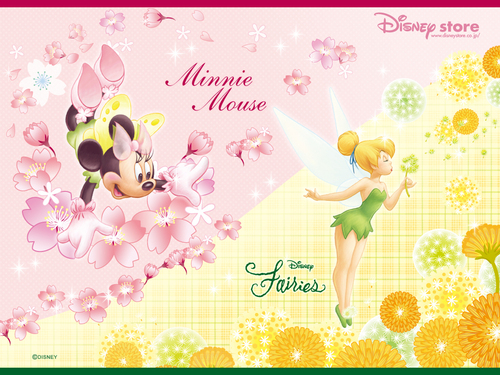 Minnie and Tink 壁紙